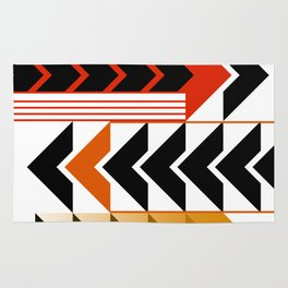 Colourful Arrows Graphic Art Design Rug
