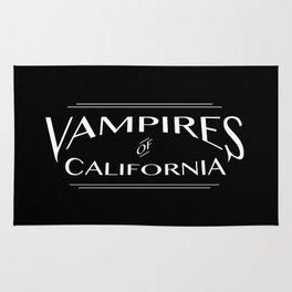 Vampires Of California Black and White Rug