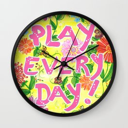 Play Every Day! Flower Painting Wall Clock