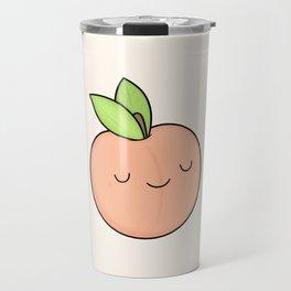 Happy Peach Travel Mug