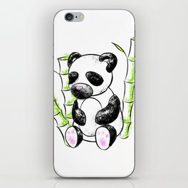 Digital Charcoal Panda (without glimmer) iPhone Skin