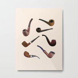 Tobacco Pipes Metal Print