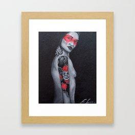 Tattoo Girl Framed Art Print