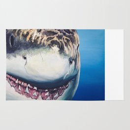 Great White Portrait Rug