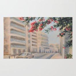 Eilat street Tel aviv_ Oil on canvas Rug