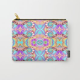 Light Blue Symmetry Carry-All Pouch