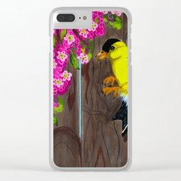 American Goldfinch Clear iPhone Case