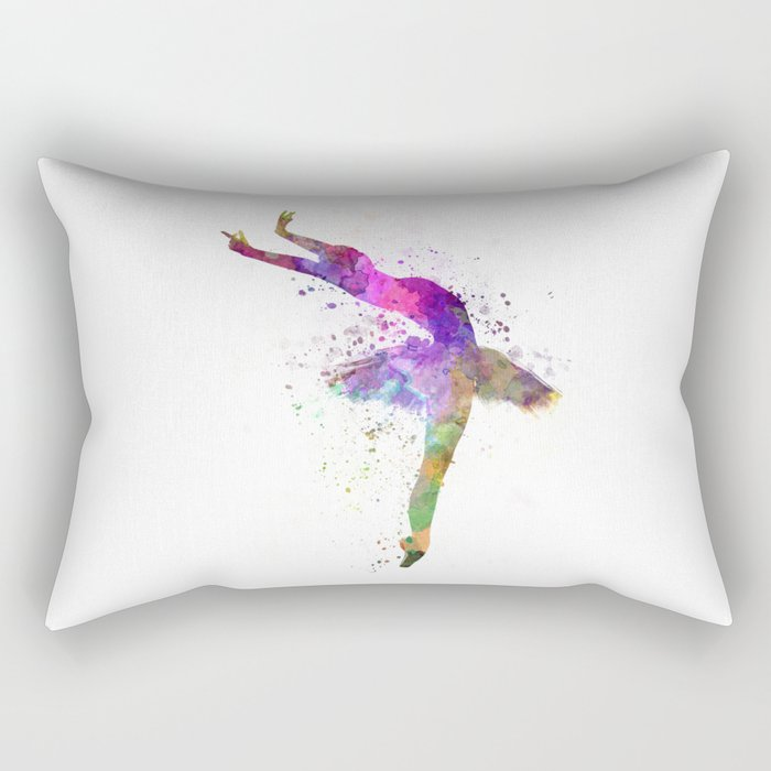 Woman ballerina ballet dancer dancing  Rectangular Pillow