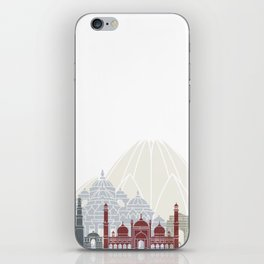 Delhi skyline poster iPhone Skin