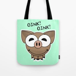 Pig Oink Piggy Pink animal framed poster art mug Tote Bag