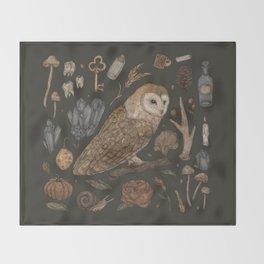Harvest Owl Throw Blanket