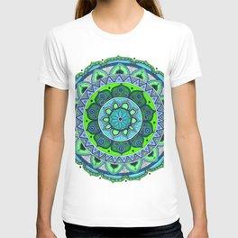 Blue & Green Mandala Art T-shirt