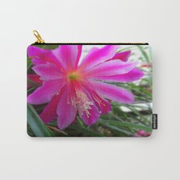 "BLOOMING FUCHSIA PINK "" ORCHID CACTUS"" FLOWER Carry-All Pouch"