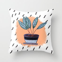 Flowers in Pot Throw Pillow