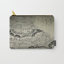 Ink Doodle Sprial Design Carry-All Pouch