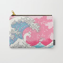 Psychodelic Bubblegum Kunagawa Surfer Cat Carry-All Pouch