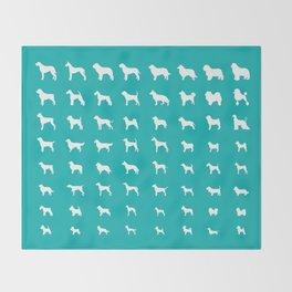 All Dogs (Aqua) Throw Blanket