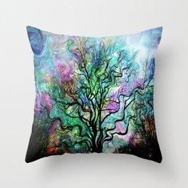 Van Gogh's Aurora Borealis Throw Pillow