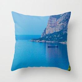 Blue Seascape Throw Pillow