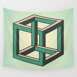 Impossible Cube Wall Tapestry