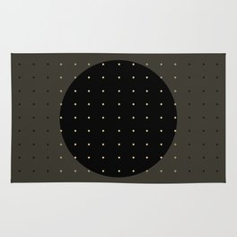 """""""Grey & Polka dots central circle pattern"""" Rug"""