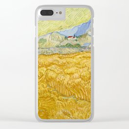 "Vincent van Gogh ""Wheat Field behind Saint Paul Hospital with a Reaper"" Clear iPhone Case"