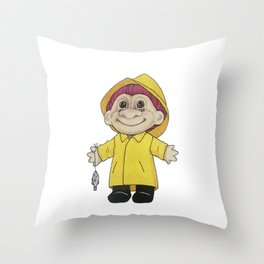 Fisketroll Throw Pillow