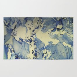 Shadows in Blue and Cream, Marble Rug