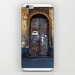 Old Sicilian door of Catania iPhone Skin