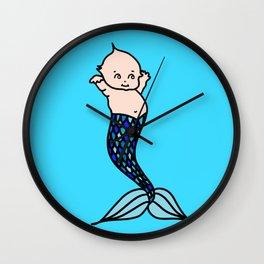 Merbaby Blue Wall Clock