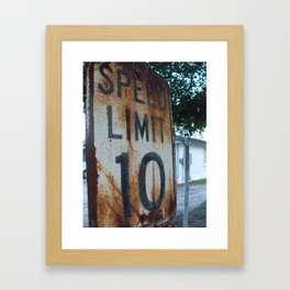 Speed Limit, Original Framed Art Print