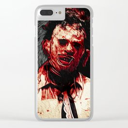 Leatherface Clear iPhone Case