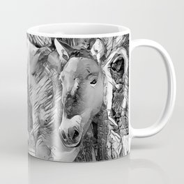 AnimalArtBW_Horse_20170801_by_JAMColorsSpecial Coffee Mug