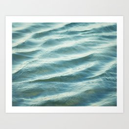 Water Abstract Photography, Ocean Ripples, Blue Teal Sea Art Print