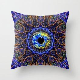 Orange Eye Of Power Throw Pillow