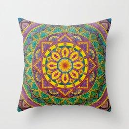 Secret Garden mandala Throw Pillow