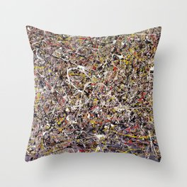 Intergalactic - abstract painting by Rasko Throw Pillow