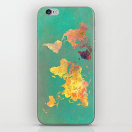 world map 103 #worldmap #map iPhone Skin