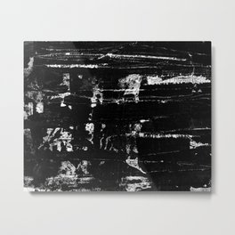 Distressed Grunge 102 in B&W Metal Print
