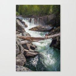 Train Wreck Waterfall Canvas Print