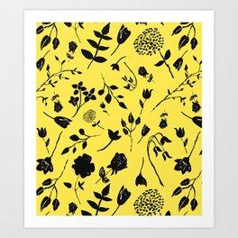 ink flower  Art Print