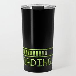 Green Loading Time Bar Travel Mug