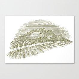 Woodcut Farm Road Canvas Print