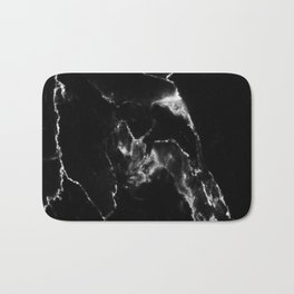 Black Marble I Bath Mat