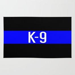 Police K-9 (Thin Blue Line) Rug