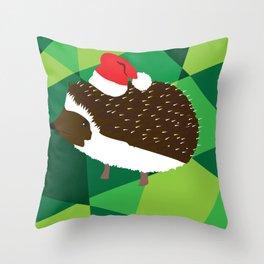 Christmas Hedgehog Throw Pillow