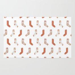 Cozy Socks Pattern // Fall Illustration Rug