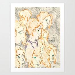 Obsessions. Art Print