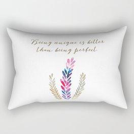 Being unique Rectangular Pillow