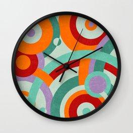 Colorful circles Wall Clock